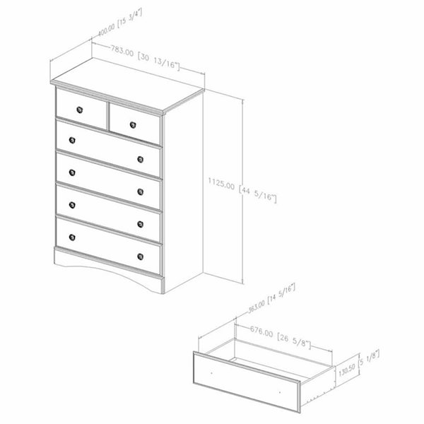 Morning Dew 5-Drawer Chest