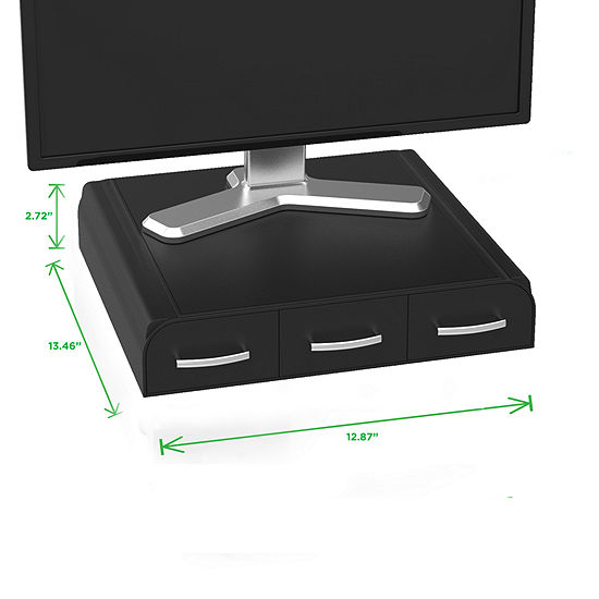 Mind Reader ' Perch'  PC, Laptop, IMAC Monitor Stand and Desk Organizer