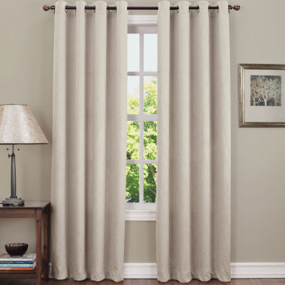 Sun Zero Emory Crushed Energy Saving Light-Filtering Grommet-Top Single Curtain Panel