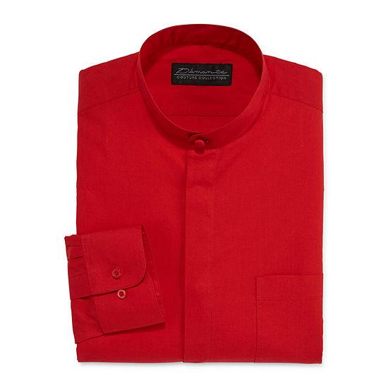 D'Amante Banded-Collar Dress Long Sleeves Shirt - Big & Tall