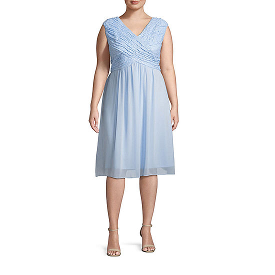 Melrose Sleeveless Beaded Lace Fit Amp Flare Dress Plus Jcpenney