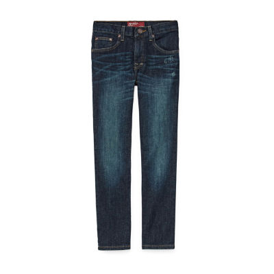 Arizona Stretch Straight Leg Jeans Boys 4-20, Slim & Husky