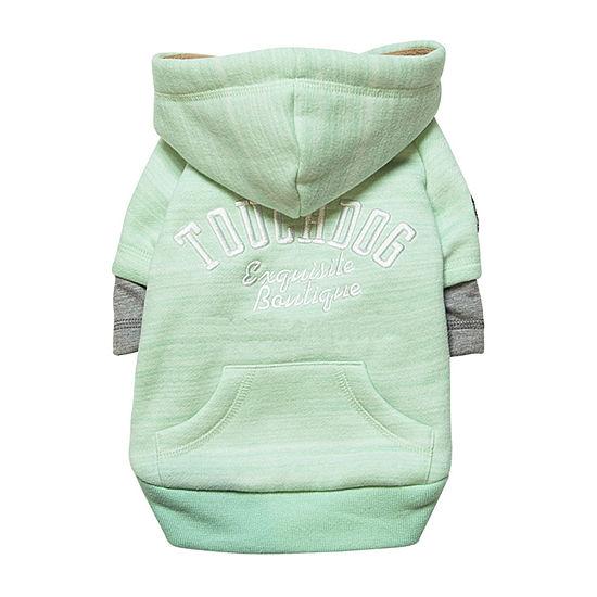 Touchdog Hampton Beach Designer Ultra Soft Sand-Blasted Cotton Pet Dog Hoodie Sweater