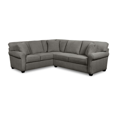Fabric Possibilities Roll Arm 2-Pc Right-Arm Sofa Sectional