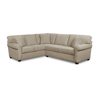 FABRIC POSSIBILITIES SHARK FIN CURIOUS 2 PC SECTIONAL WITH SOFA AND LOVESEAT
