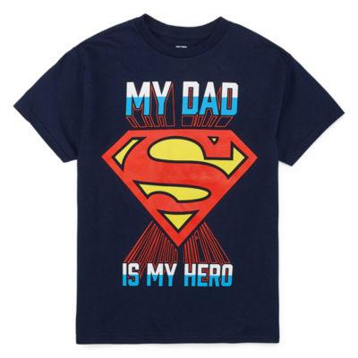Boys Crew Neck Short Sleeve Superman Graphic T-Shirt Preschool / Big Kid
