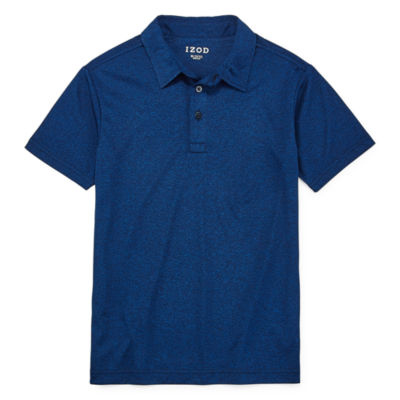 Izod Exclusive Boys Point Collar Short Sleeve Moisture Wicking Polo Shirt Preschool / Big Kid