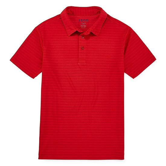 Izod Exclusive Boys Point Collar Short Sleeve Moisture Wicking Polo Shirt Preschool / Big Kid