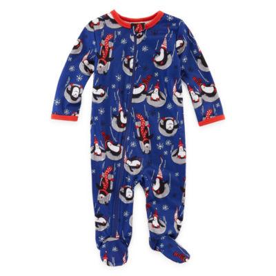 Nite Nite Munki Munki Penguin Family Coat 2 Piece Front Pajama -Unisex Baby