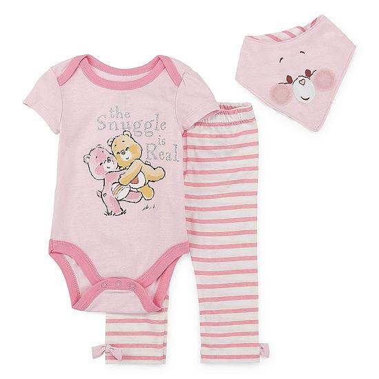 American Greetings / Care Bears Baby Girls 3-pc. Care Bears Bodysuit Set