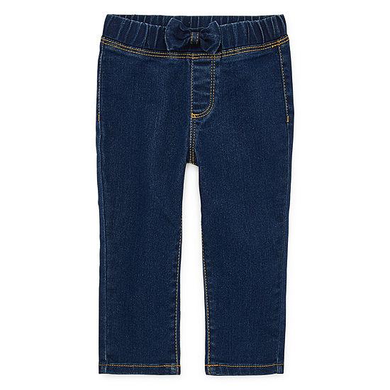Okie Dokie Girls Straight Pull-On Pants - Baby