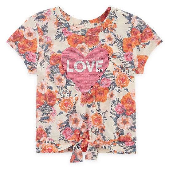 Self Esteem Girls Scoop Neck Short Sleeve Graphic T Shirt Preschool Big Kid