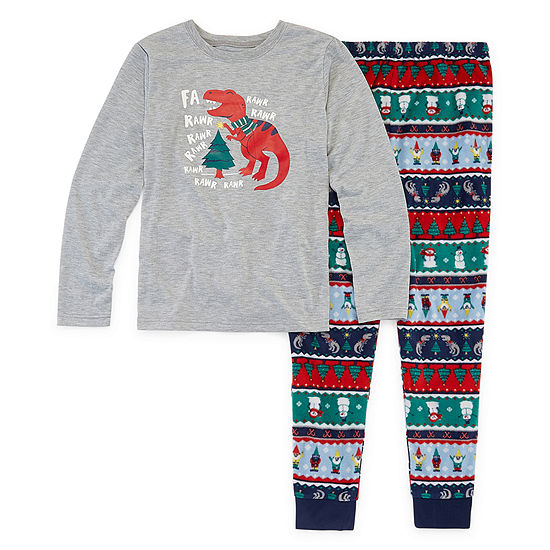 North Pole Trading Co. Fun Fairisle Family Little & Big Boys 2-pc. Pant Pajama Set