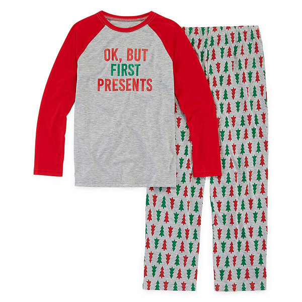 North Pole Trading Co. Christmas Wish Family Unisex 2-pc. Pant Pajama Set Preschool / Big Kid