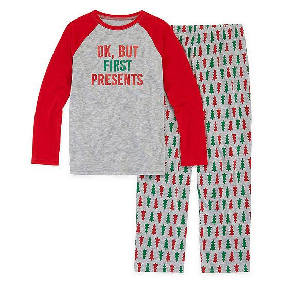 North Pole Trading Co. Christmas Wish Family Little & Big Unisex 2-pc. Pant Pajama Set