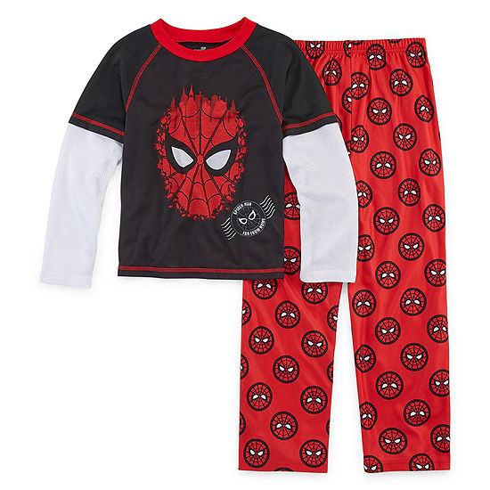 Boys 2-pc. Spiderman Pant Pajama Set Preschool / Big Kid