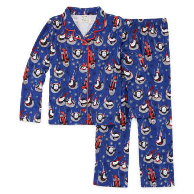 Nite Nite Munki Munki Penguin Family Unisex 2-pc. Pant Pajama Set Preschool / Big Kid