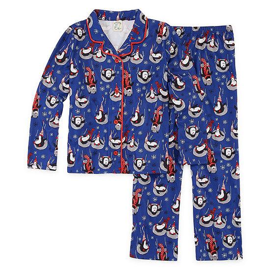 Nite Nite Munki Munki Penguin Family Unisex 2-pc. Pant Pajama Set Preschool / Big Kid