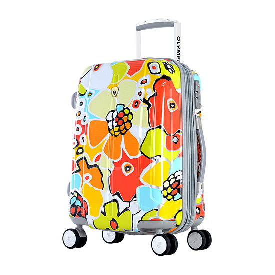 Olympia Blossom 25 Inch Hardside Luggage