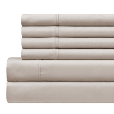 Cotton Rich 6pc 500 Thread Count Anti Bacterial Polygiene Sheet Set