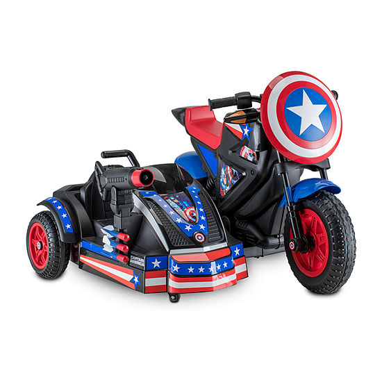 Kid Trax Marvel Captain America 12volt Motorcycle Electric Ride-On
