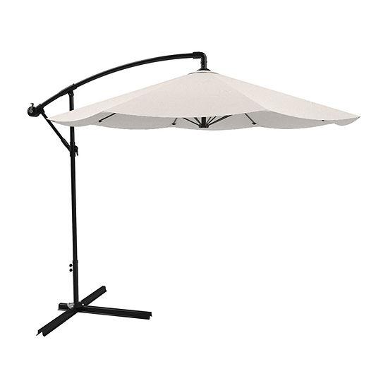 Pure Garden Offset 10 ft. Aluminum Hanging Patio Umbrella