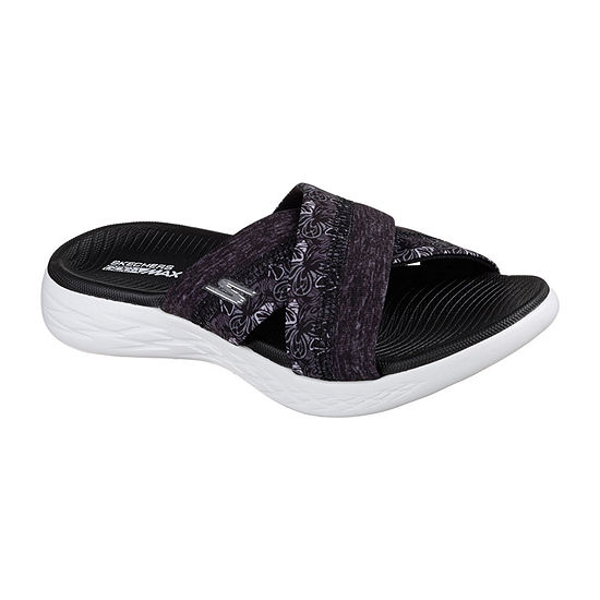 Skechers Womens On-The-Go Wide Width Strap Sandals