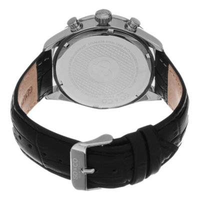 SO & CO NY Mens Monticello Alligator Embossed Leather Sport Quartz Watch J154P76