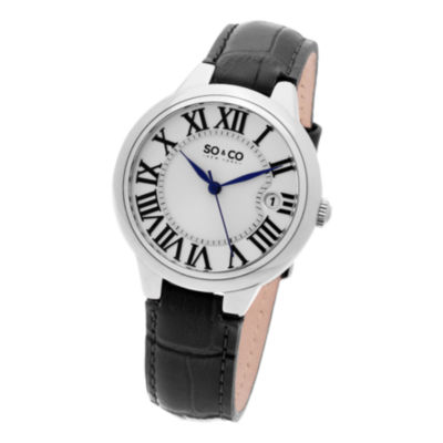 SO & CO Ny Women'S Madison Leather Dress Quartz Watch J154P71