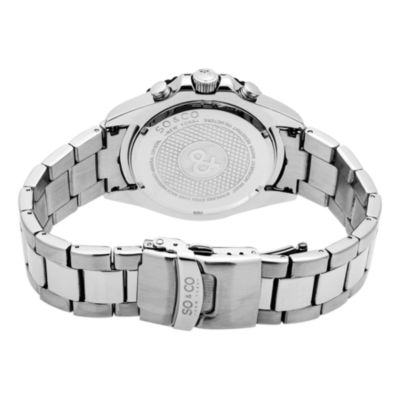 SO & CO Ny Men'S Yacht Club Stainless Steel Bracelet Chronograph Sport Quartz Watch J153P39