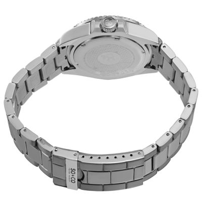 So & Co Mens Silver Tone Bracelet Watch-J153p28