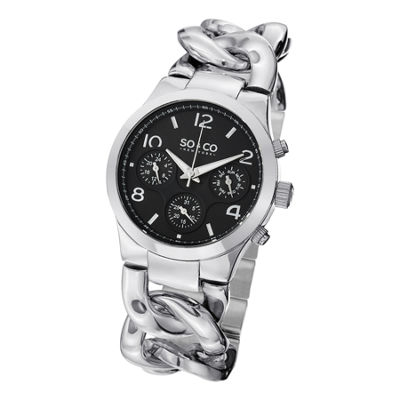 SO & CO NY Womens Soho Stainless Steel Chain Bracelet Casual Quartz Watch J151P21