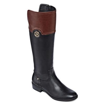 Liz Claiborne® Penn Two-Tone Riding Boots