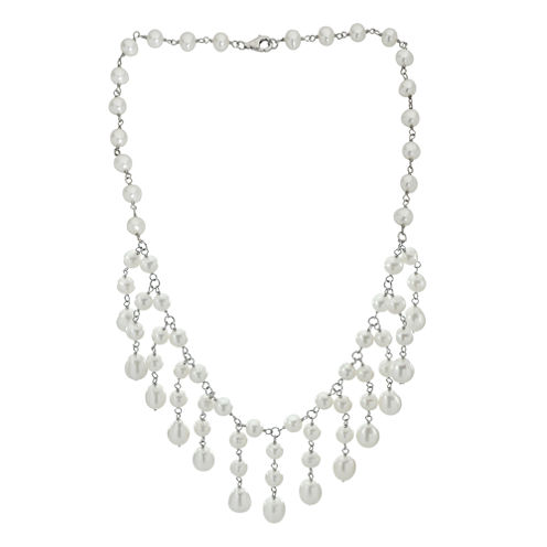 6-9Mm Cultured Freshwater Pearl Sterling Silver Necklace
