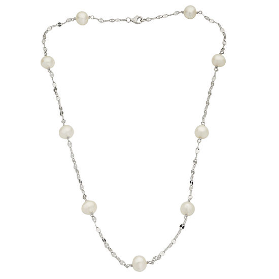 Cultured Freshwater Pearl Sterling Silver Necklace
