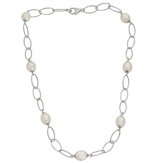 8.5-9Mm Cultured Freshwater Pearl Sterling Silver Necklace