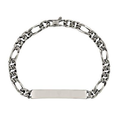 Mens Stainless Steel Chain ID Bracelet