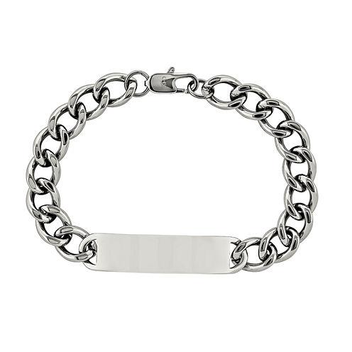 Mens Stainless Steel ID Chain Bracelet