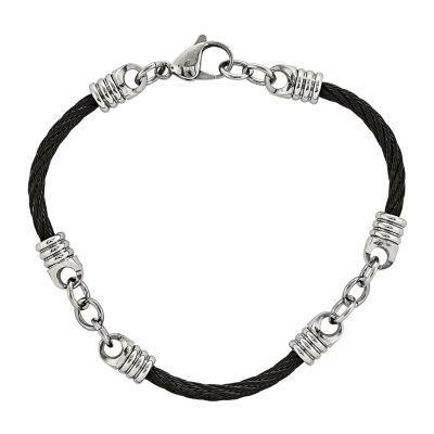 Mens Stainless Steel Black IP-plated Bracelet