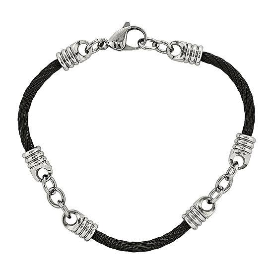 Mens Stainless Steel Black IP-plated Bracelet
