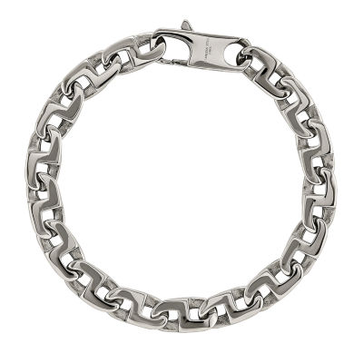 mens stainless steel chain bracelet jcpenney