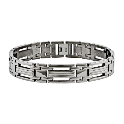 Mens Titanium Chain Bracelet