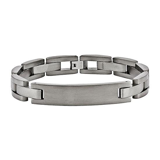 Mens Titanium Id Bracelet