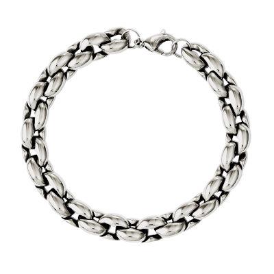 Stainless Steel 8.25 Inch Chain Bracelet