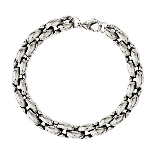 Stainless Steel 8.25 Inch Chain Bracelet