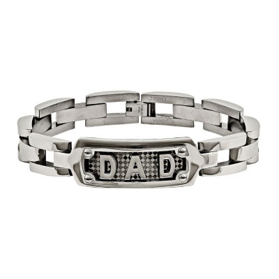 Mens Stainless Steel Dad Chain Bracelet