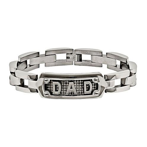 Mens Stainless Steel Dad Chain Bracelet