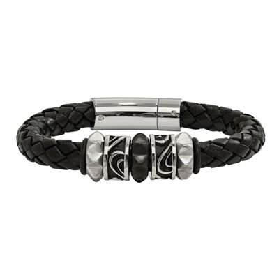 Mens Stainless Steel Wrap Bracelet