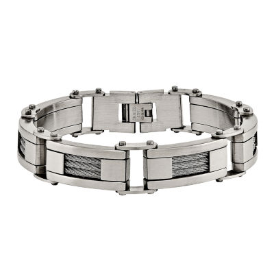 Mens 8.5 Inch Stainless Steel Chain Bracelet