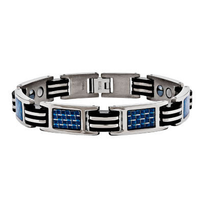 Mens 8.5 Inch Titanium Chain Bracelet